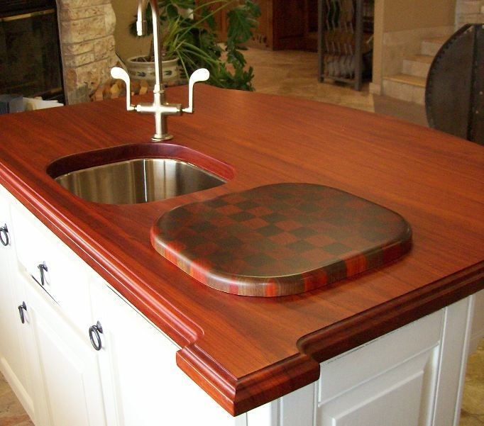 Compact Wood Countertops Designs Image
