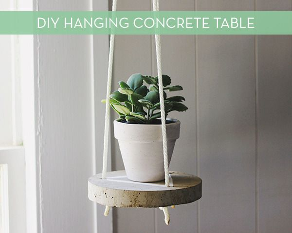 Make It Diy Hanging Concrete Plant Stand Concrete Diy Diy Plant Stand Hanging Plant Holder