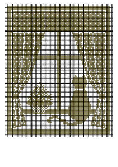 Galleryru фото 195 кошки схемы Olgakam Filet Haken