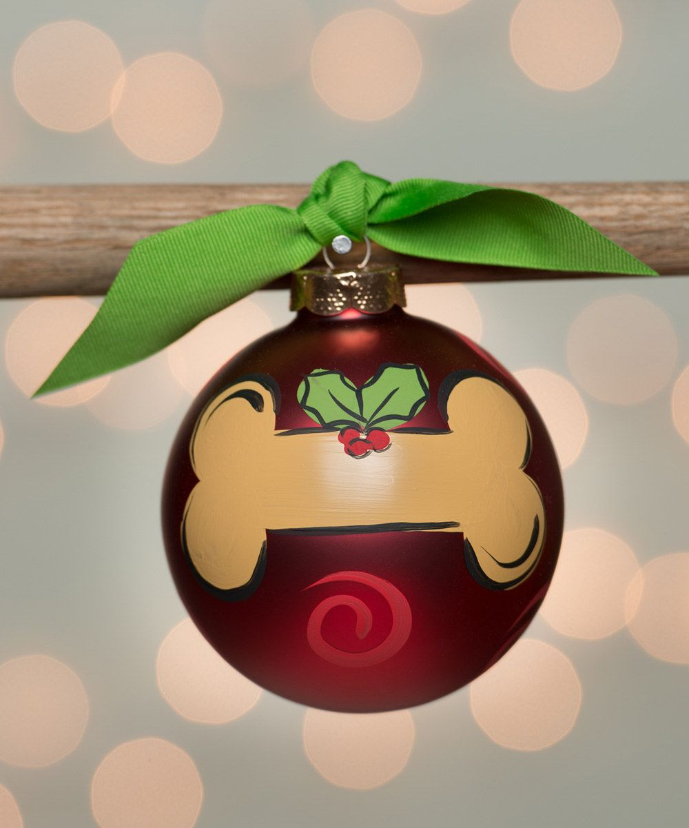 Look At This Dog Bone Ball Ornament On Zulily Today Christmas Ornaments To Make Diy Christmas Ornaments Glass Ball Ornaments