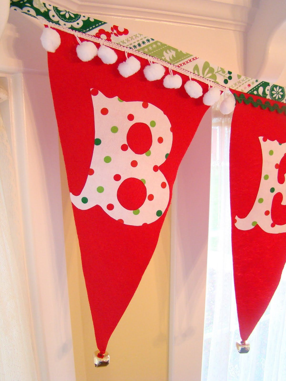 Christmas Pennant Banner Tutorial With Free Alphabet Template
