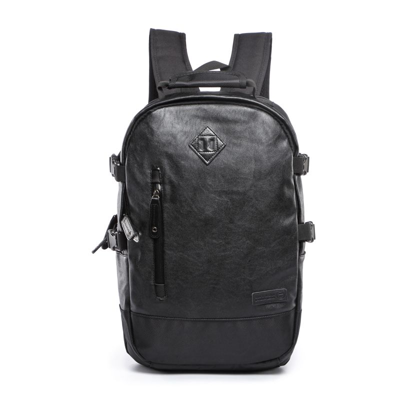 (Buy here: http://appdeal.ru/2j9p ) Fashion Unisex Pu Leather Laptop Backpack Men School Bag for Teenage Girls Boys Large Capacity Waterproof Travel Hiking Backpack for just US $38.60