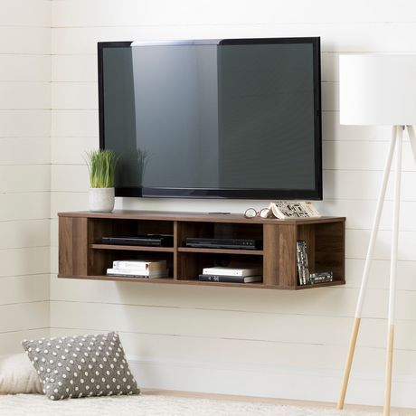 South Shore City Life 48 Wall Mounted Media Console Natural