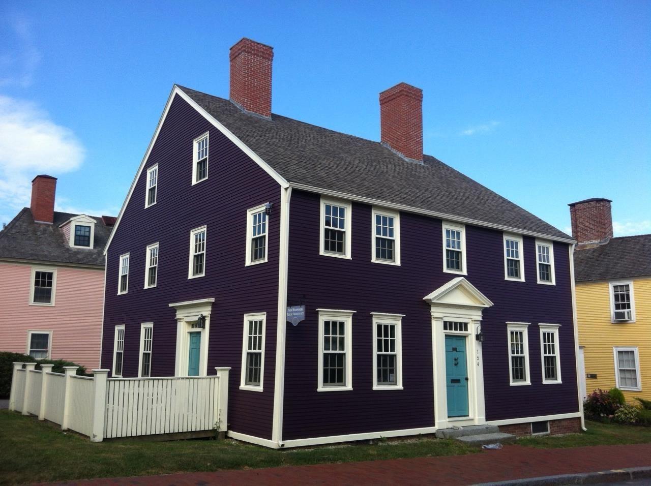 Eggplant House Slate Roof Google Search House Exterior Exterior House Colors Exterior Paint Colors For House