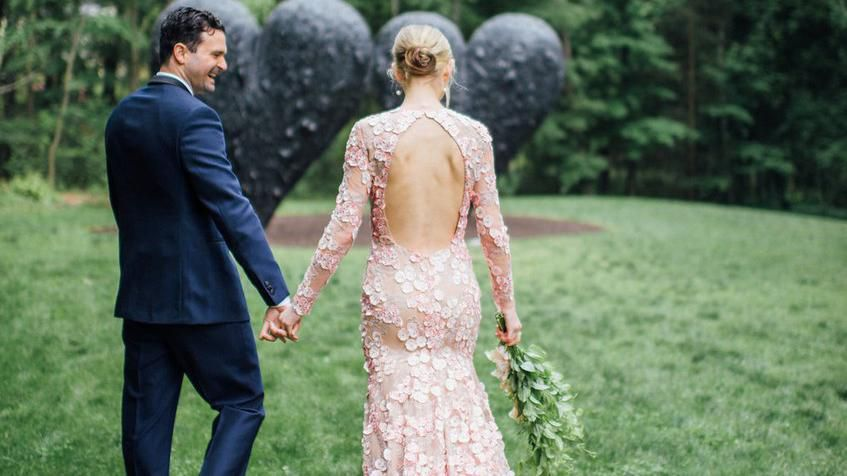 We've rounded up 11 untraditional, colored wedding dresses you can buy now