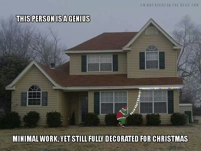 Lazy Christmas Lights The Grinch made me do it! | Random | Pinterest