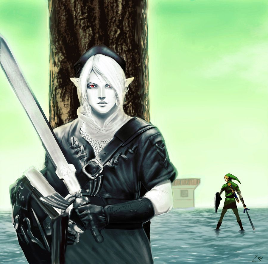 Dark Link by Zalogero | #OoT water temple | The legend of ...