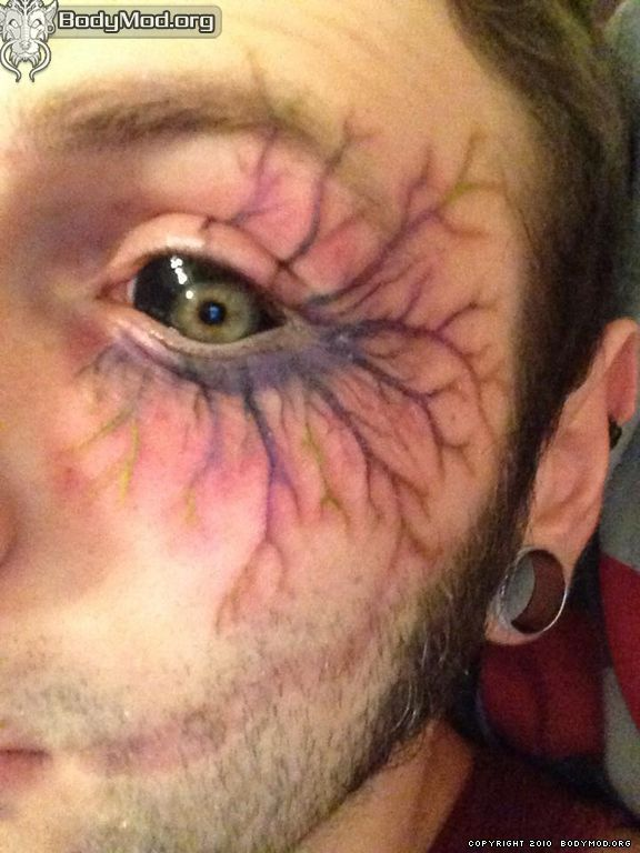Black Eyeball Tattoo Infection Tattoo Stemming From The Eye