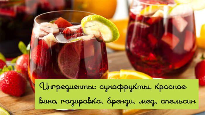 """Домашняя сангрия """"Веселящий компот"""""""