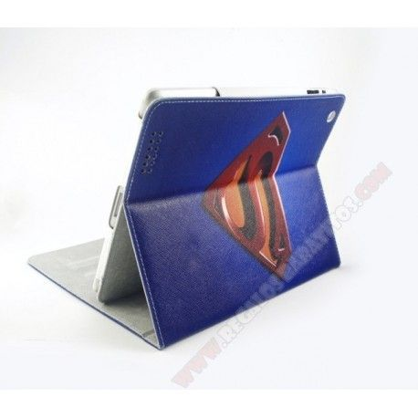 Funda azul personalizada piel diseño superhombre para iPad mini