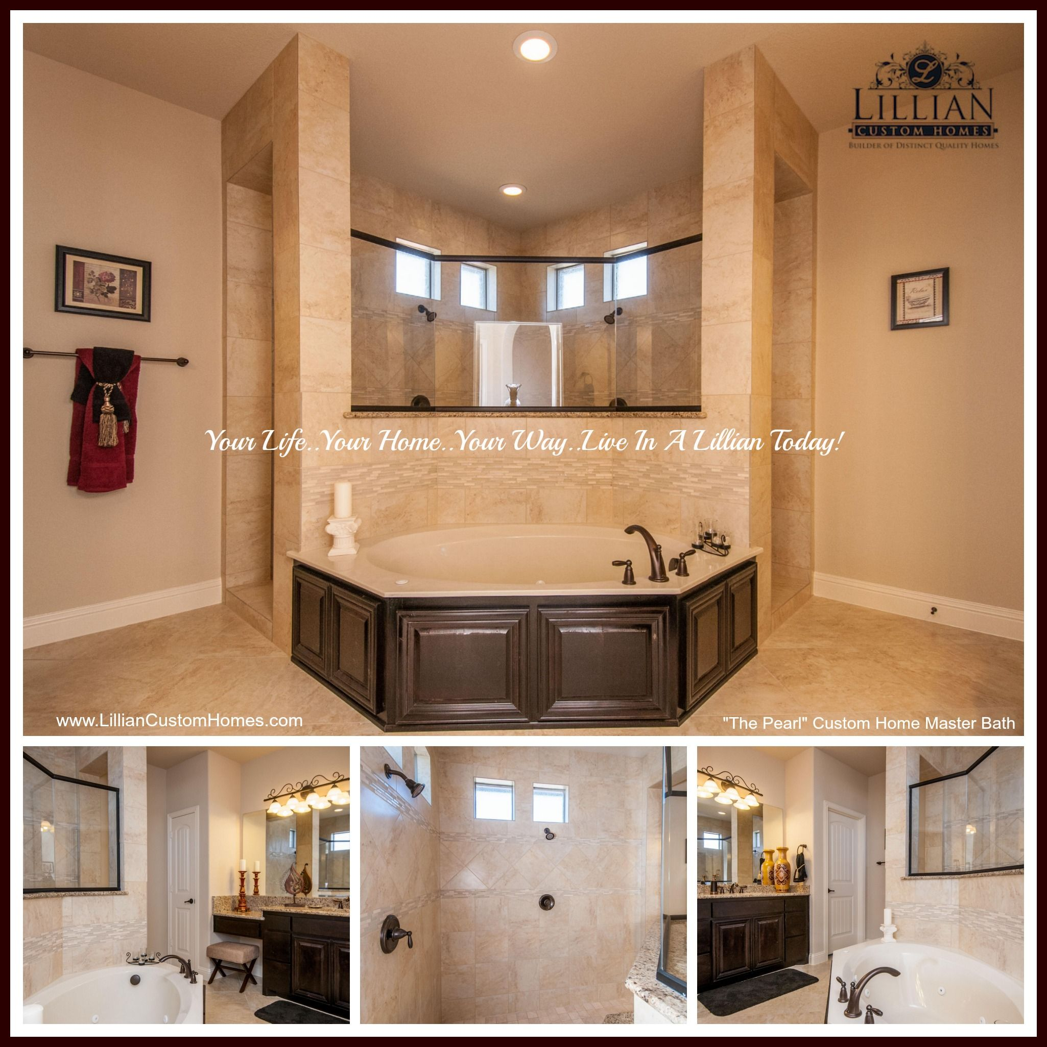 The Pearl Located In The Private Ovilla Parc Community Features This Luxurious Master Dream Bathroom Master Baths Master Bedroom Renovation House Bathroom