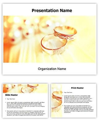 Make great-looking PowerPoint presentation with our Wedding Rings - wedding powerpoint template