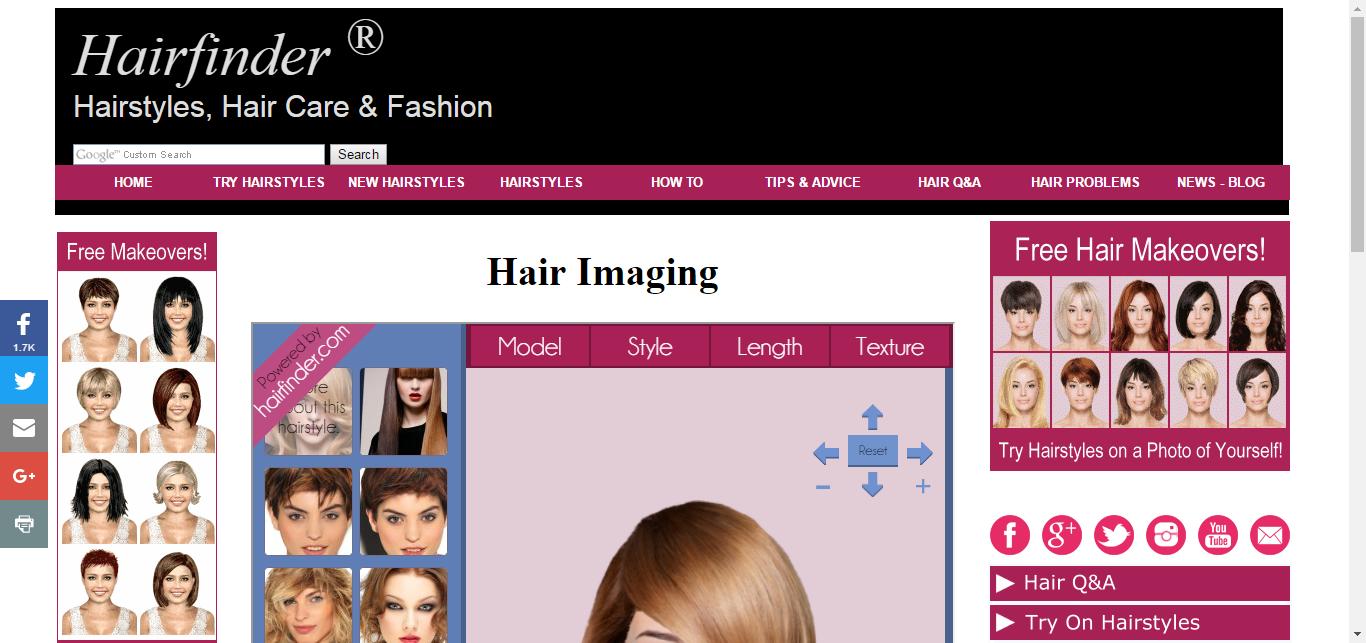 virtual hairstyles - hair imaging - makeover software   hair