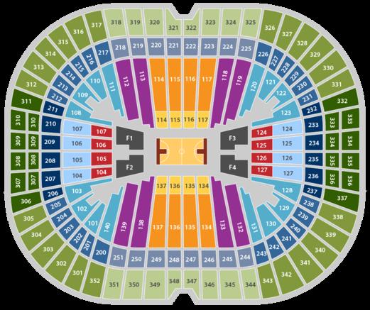 Georgia dome basketball seating chart