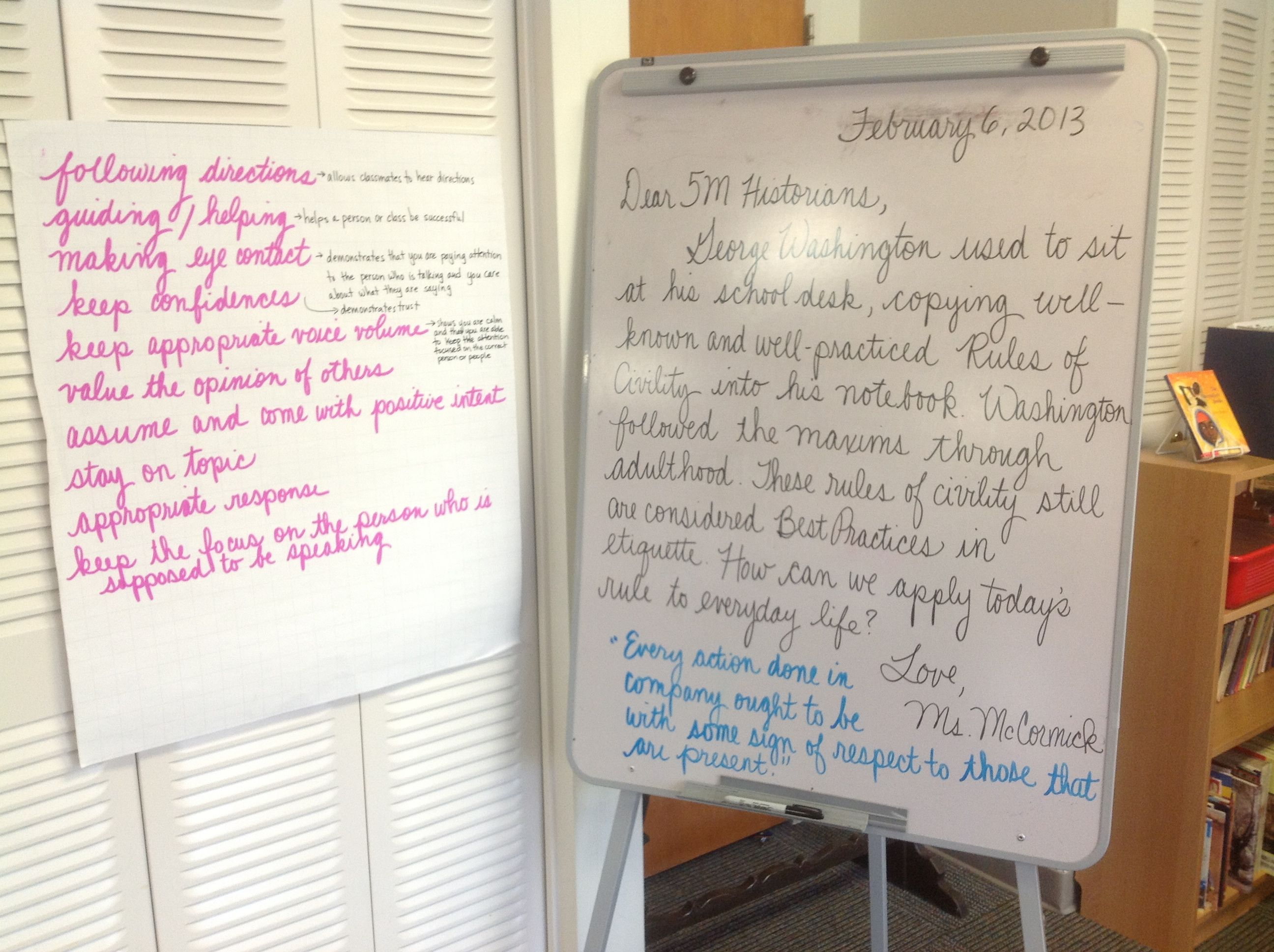 Rules Of Civility Responsive Classroom With Student