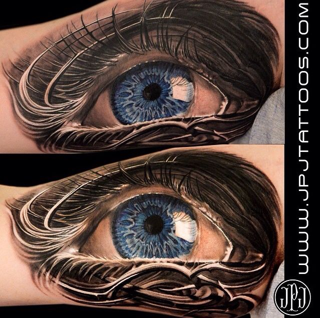 Jose Perez Jr's throwback for today is this amazing realistic eye tattoo.  http://instagram.com/savemyink