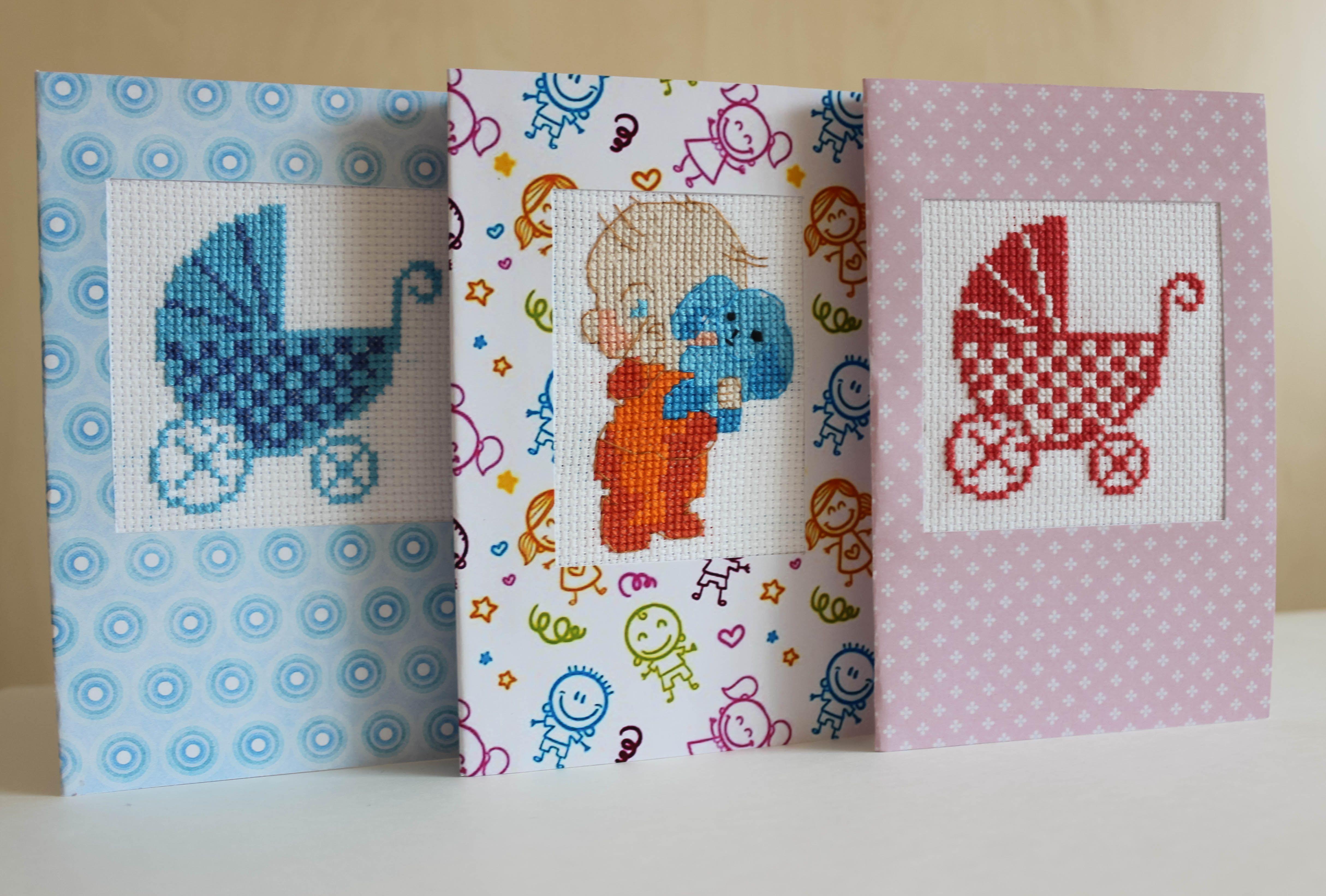 Открытки, открытки с вышивкой детям