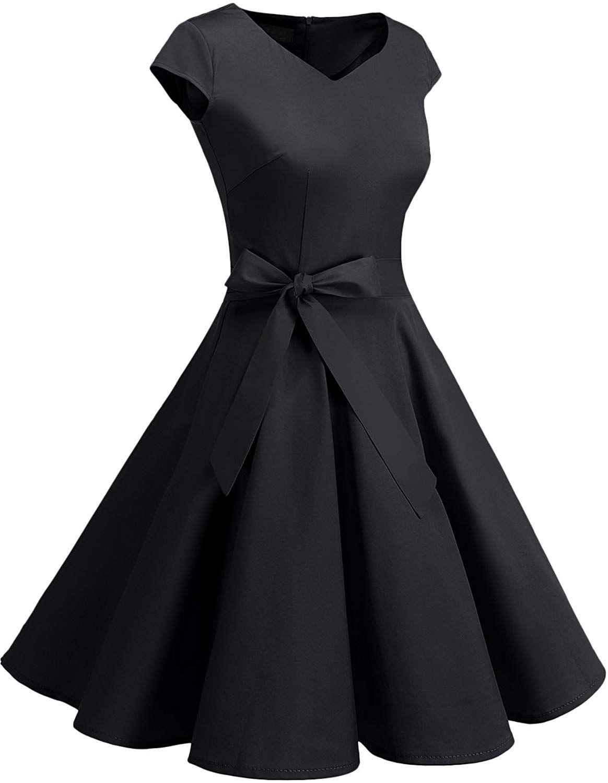 Dresstells Retro 1950s Cocktail Dresses Vintage Swing Dress With Cap Sleeves Black Xs At Amazon Unique Prom Dresses Vintage Swing Dress Cocktail Dress Vintage [ 1500 x 1164 Pixel ]