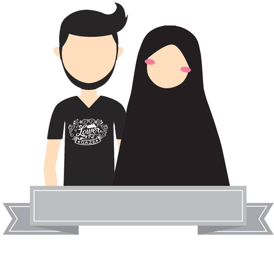 Gambar Kartun Muslim Dan Muslimah Couple Top Gambar