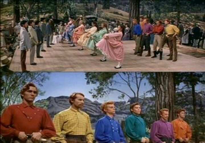 Barn raising in Seven Brides For Seven Brothers - one of ...