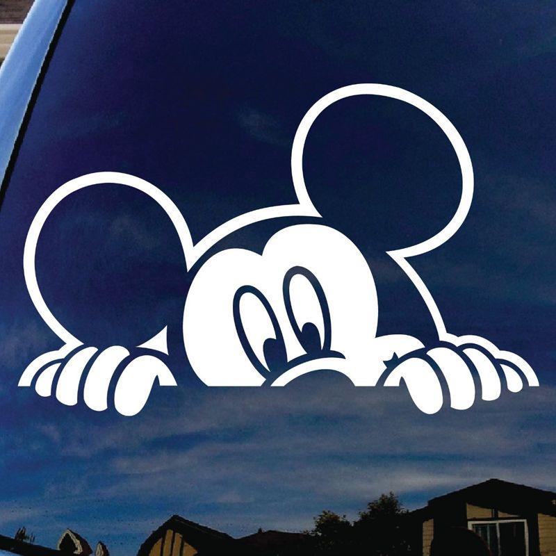 Mickey Mouse Peeking Car Window Vinyl Decal Sticker Wide Die - Die cut vinyl decal stickers