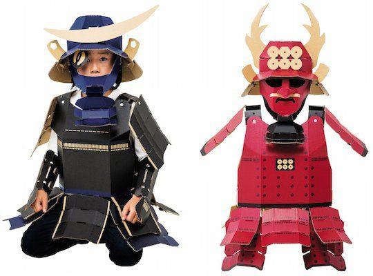Samurai Armor Kacchu Cardboard Costume Kit  sc 1 st  Pinterest & Samurai Armor Kacchu Cardboard Costume Kit | Cartón | Pinterest