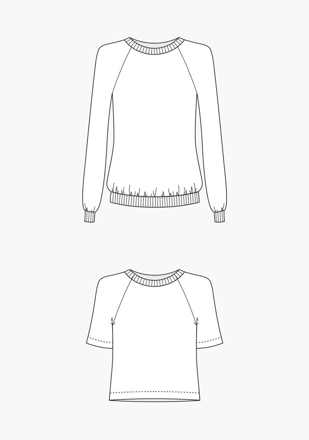 Linden Sweatshirt | Sewing Patterns | Pinterest | Schnittmuster ...