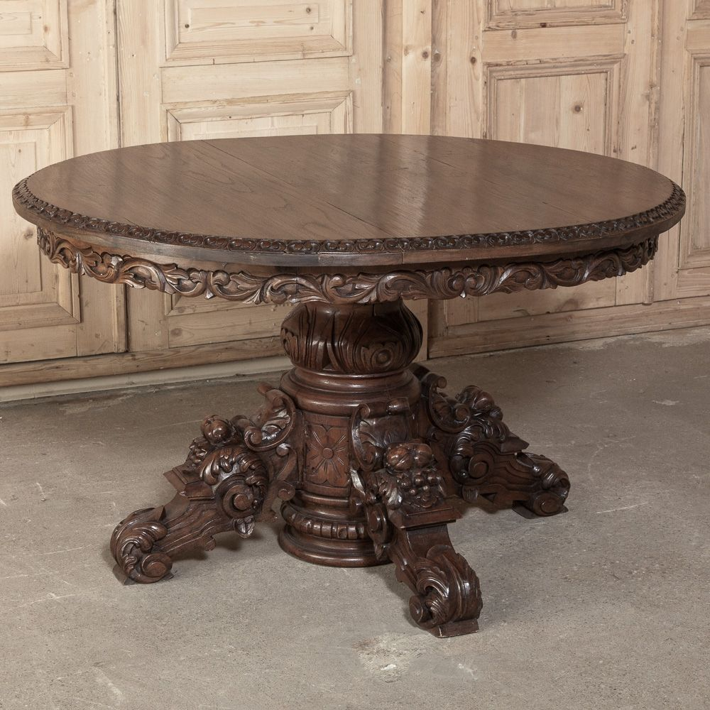 plain antique wooden center table