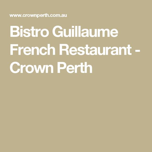 French Restaurant Crown Perth