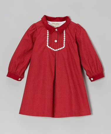 Take a look at this Red Pin Dot Dress - Infant & Toddler by P'tite Môm on #zulily today! $25.99