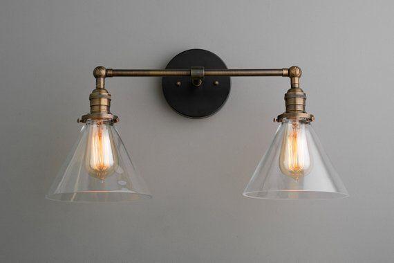 Photo of Industrial Vanity – Vanity Light – Hardwired Light – Bathroom Light – Articulating Lights – Farmhouse Light – Light Fixture – Model No. 1464