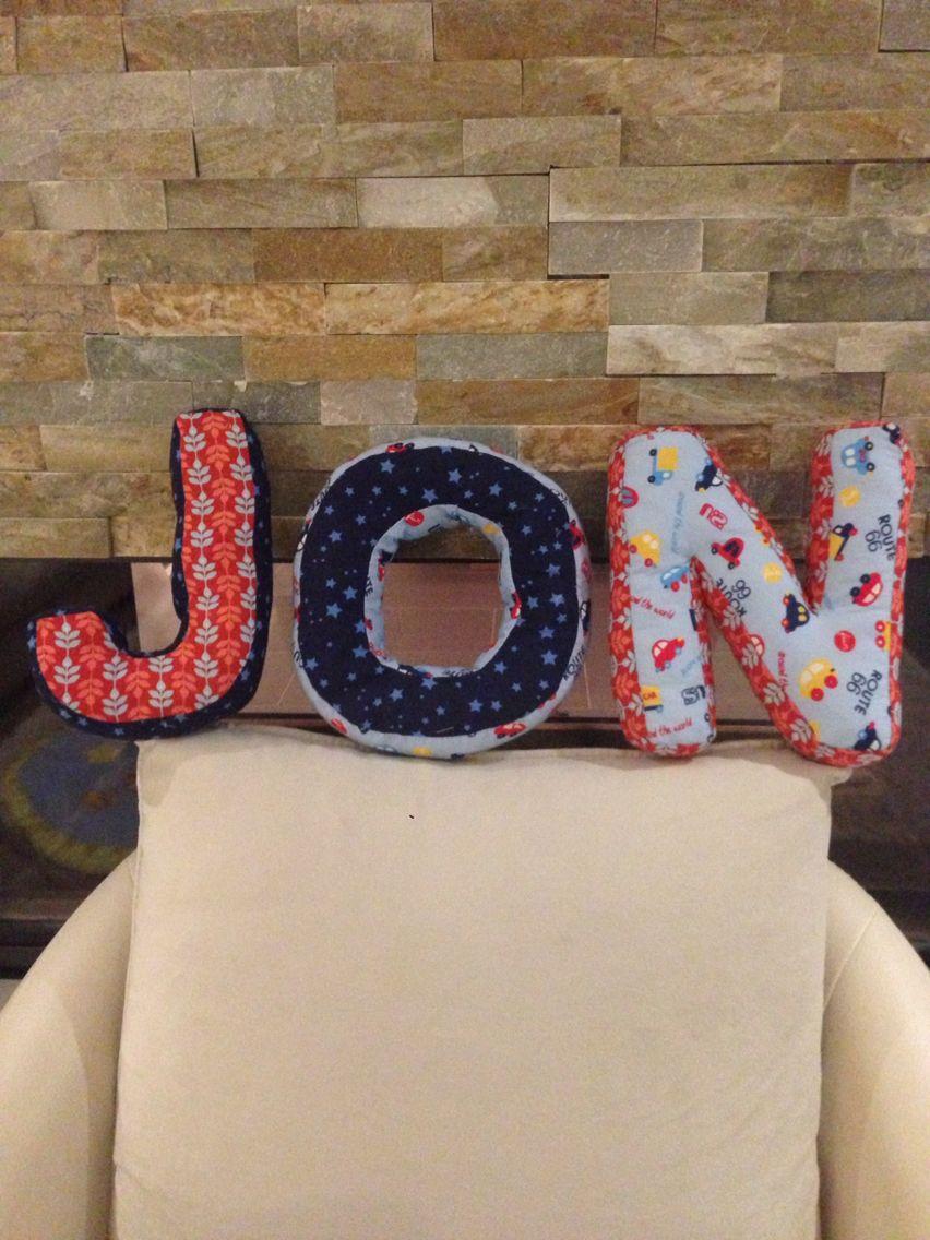 Name aus genähten Buchstaben | Buchstaben nähen | Pinterest