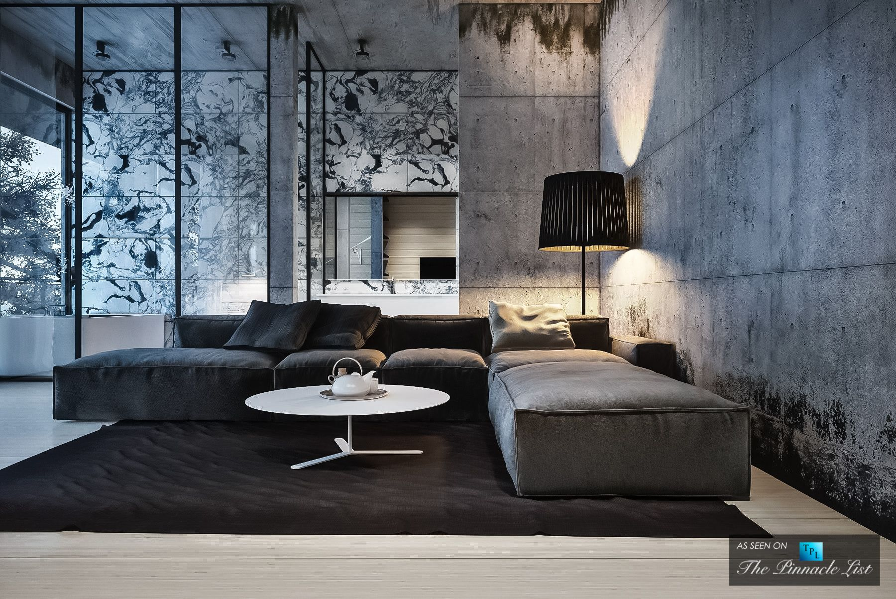 housing interiors. Simply Elegant House at the Lake Interior Design Concept by Igor Sirotev  Photo Gallery