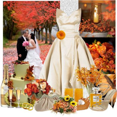 Example Of A Fall Wedding Vision Board