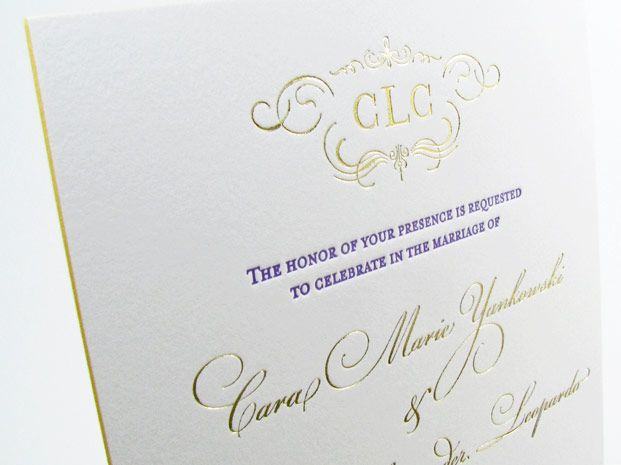 gold foil and blush wedding invitation - Google Search