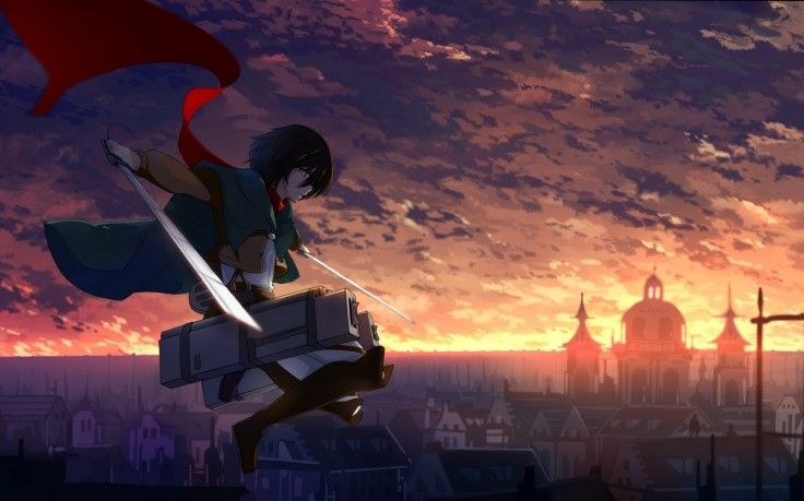 Mikasa Ackerman Scarf Shingeki No Kyojin Hd Wallpaper Desktop Background Sword Art Online Season Mikasa Hd Anime Wallpapers