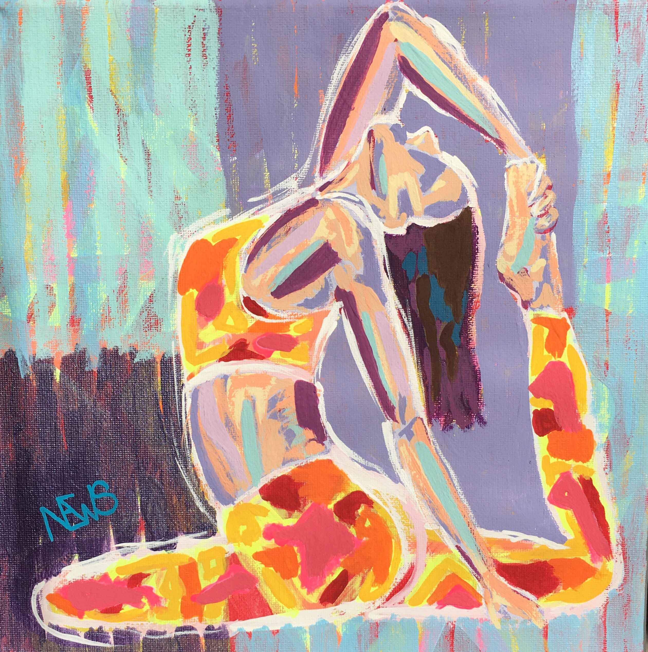 Yoga Abstraction Painting