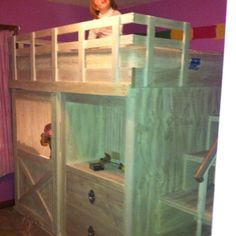 Horse Barn Bunk Bed Google Search Horsesy Ss Bed Room Bedroom