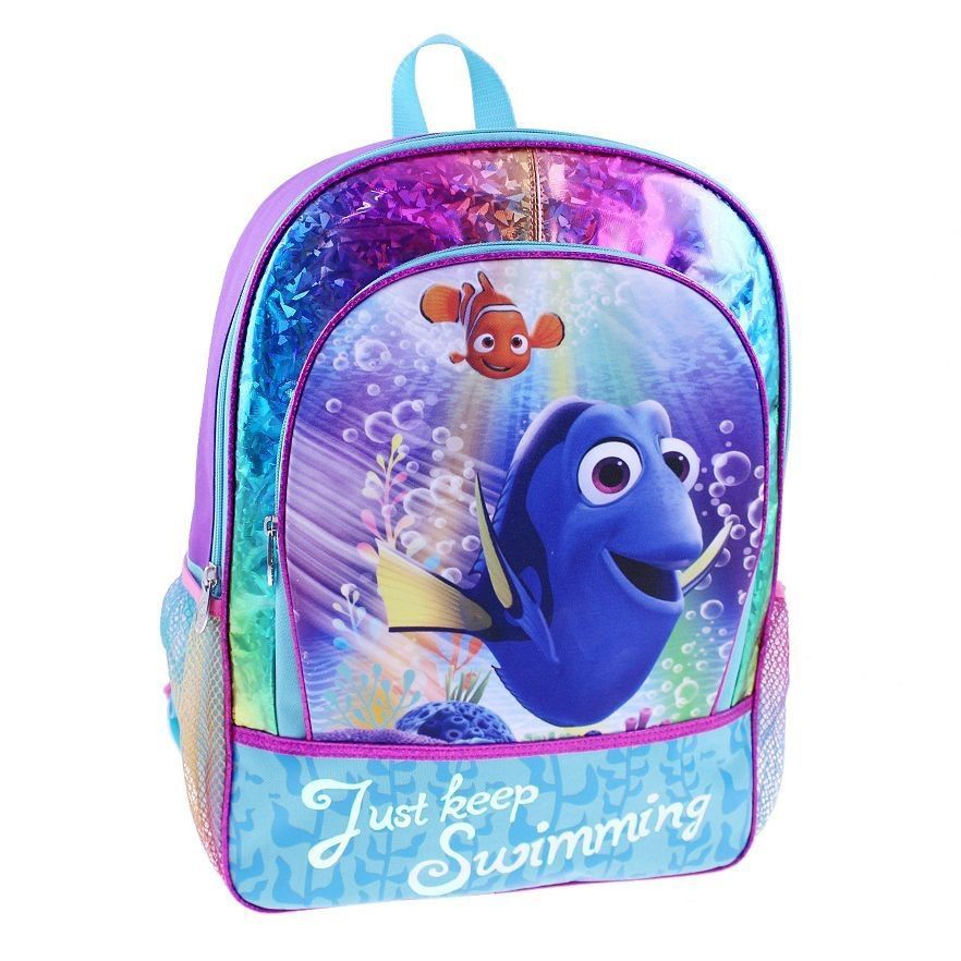 1c72316b76c Finding Dory Kids School Backpack Zippered Front Compartment by Disney Pixar