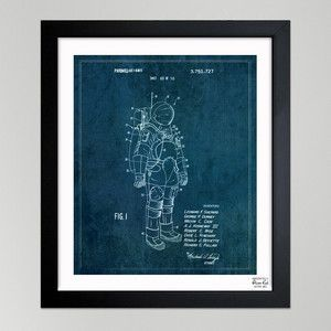 Oliver Gal:  Fun & Quirky Blueprint Art. Space Suit Ii, 1973 15x18, $85, now featured on Fab.