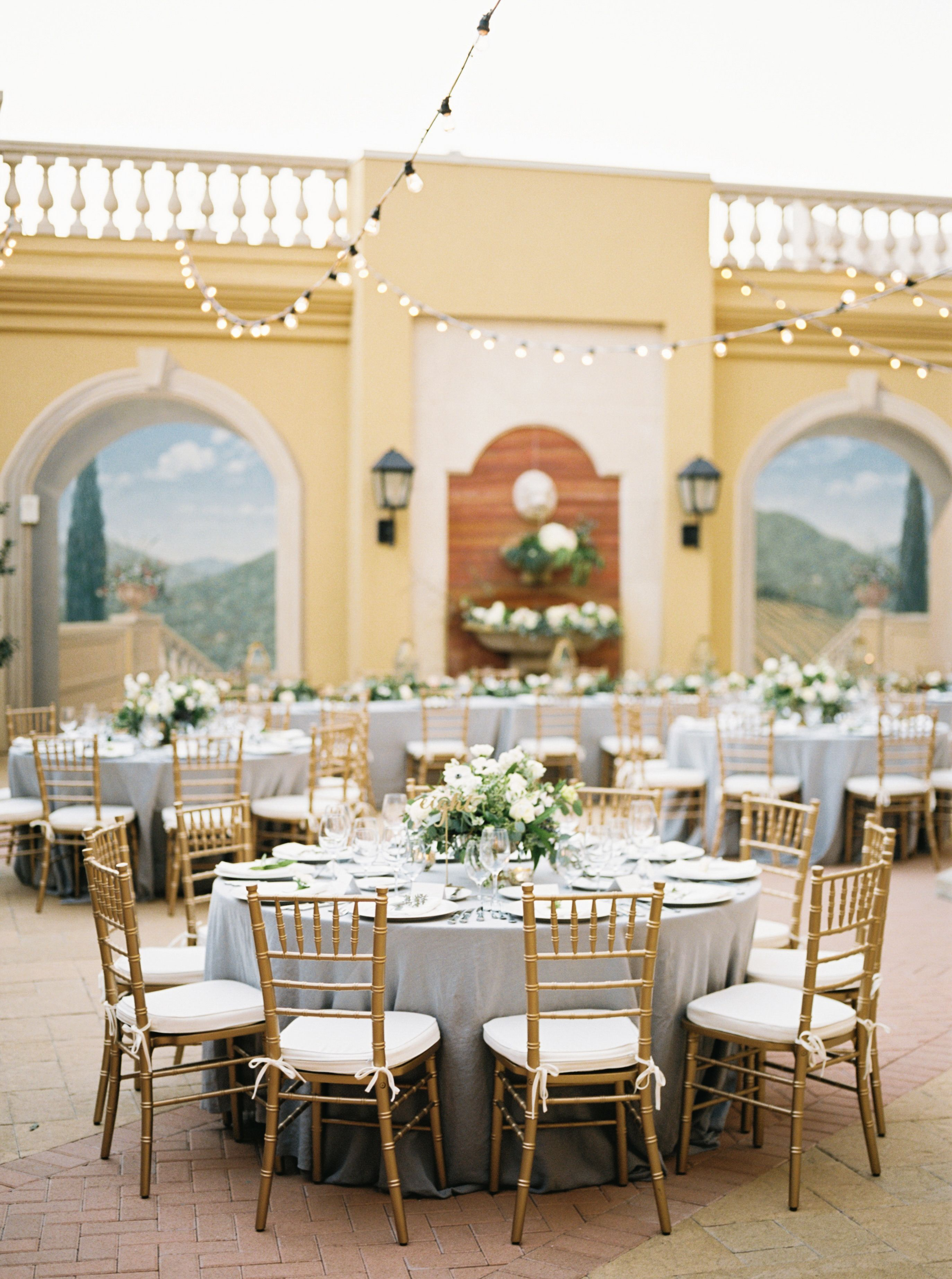 Light blue wedding decoration ideas  Bringing the Beauty of Tuscany to this Hill Country Wedding
