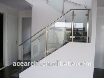 Best Simple Design Glass Stair Railing Cost With Balcony Design 400 x 300