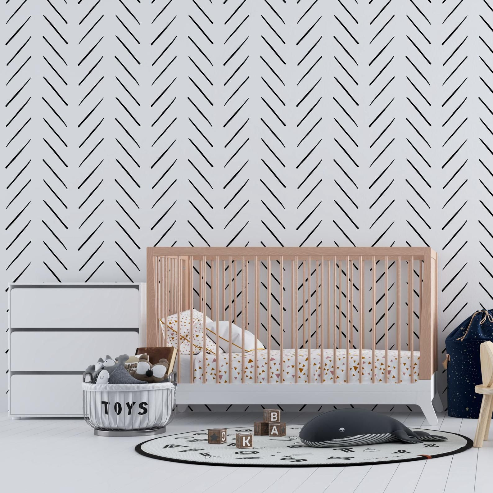 Escamilla Herringbone 18 86 L X 18 W Peel And Stick Wallpaper Roll Peel And Stick Wallpaper Room Visualizer Wallpaper Roll