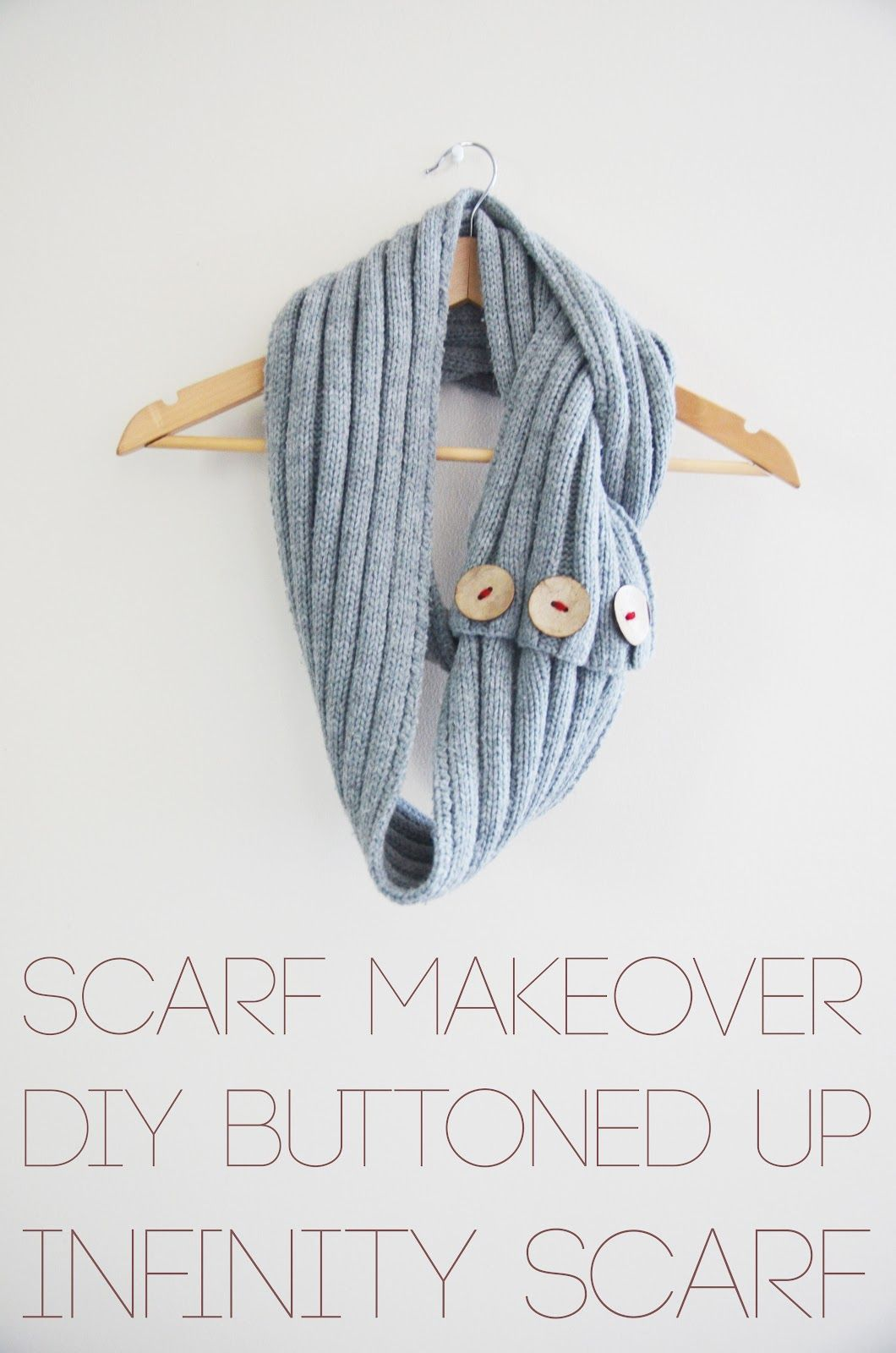 PS : ♡: diy : buttoned up infinity scarf | My Style | Pinterest ...