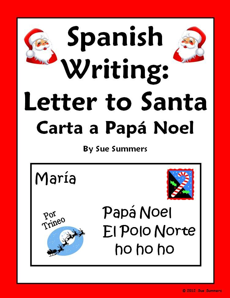 Christmas Writing Assignment  A Letter To Santa Claus In Spanish