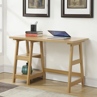 Convenience Concepts Trestle Writing Desk Reviews Wayfair - Wayfair trestle table