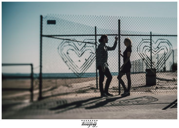 Asbury park engagement session tattoos kisses and