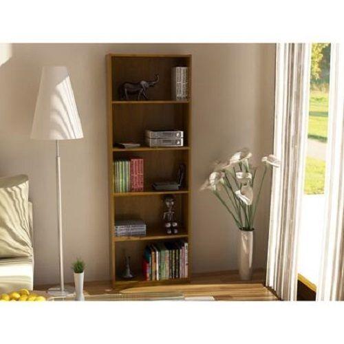 Wood Bookcase Storage Shelves Linen Bookshelf Organizer Book Display Furniture Unbranded Bookcase Decor Bookcase Shelves