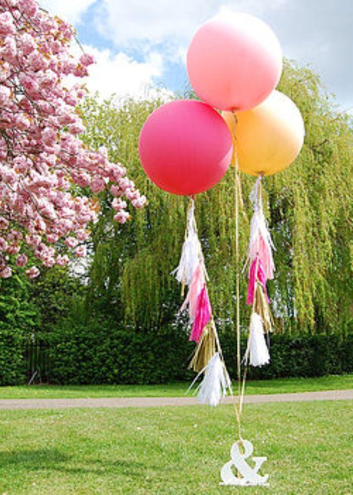 Giant Wedding Balloons White Balloon With Large Tel