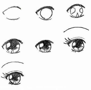 Resultado De Imagem Para Desenho Passo A Passo Anime Olhos
